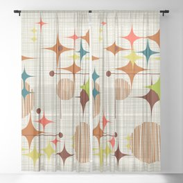 Starbursts and Globes Sheer Curtain
