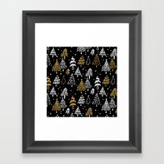 Christmas Tree Pattern Framed Art Print