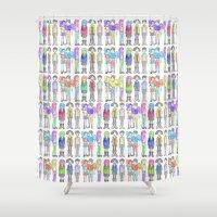 daria Shower Curtains featuring Daria and Friends by Monique Cutajar