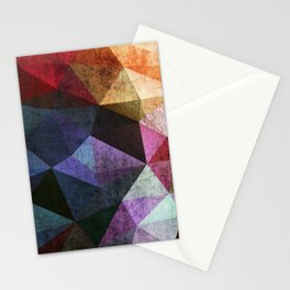 Old picture. Polygon Grunge. Stationery Cards