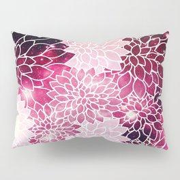 Space Dahlias Magenta Pillow Sham
