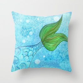 Mysterious Mermaid Throw Pillow
