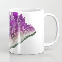 Amethyst- February birthstone crystal specimen painting Coffee Mug