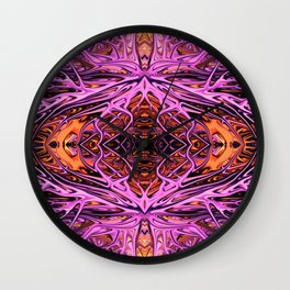 Pink Lightning II by Chris Sparks Wall Clock