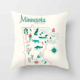 Minnesota State Love Throw Pillow