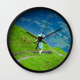 Happy moments in Austria Wall Clock