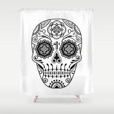 Deco Sugar Skull 2 Shower Curtain
