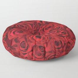 Valentine's day rose Floor Pillow