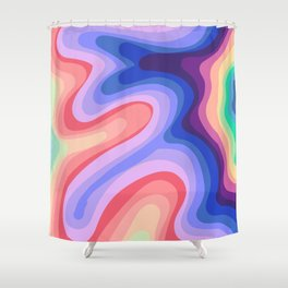 Psychedelic Rainbow 1 Shower Curtain