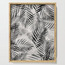 Palm Leaves - Black & White Serving Tray