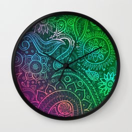 Paisley vivid  Wall Clock