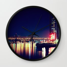 When Light and Dark Collides Wall Clock