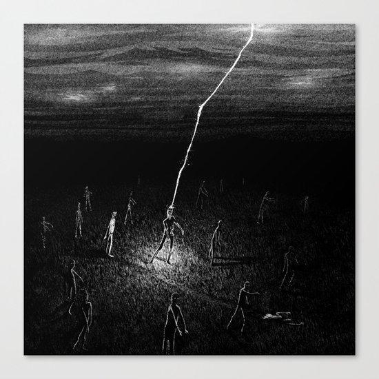 Electric Zombie Canvas Print