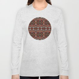 African Tribal Pattern No. 121 Long Sleeve T-shirt