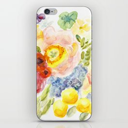 Long Live Summer - Brilliant colors of the garden's abundance - Flowers Fruit Vegetables Berries iPhone Skin