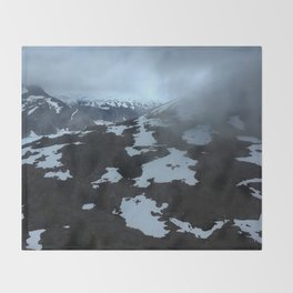 Alaska Glaciers Throw Blanket
