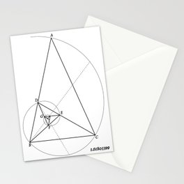 Vintage Style Golden Ratio Diagram Stationery Cards
