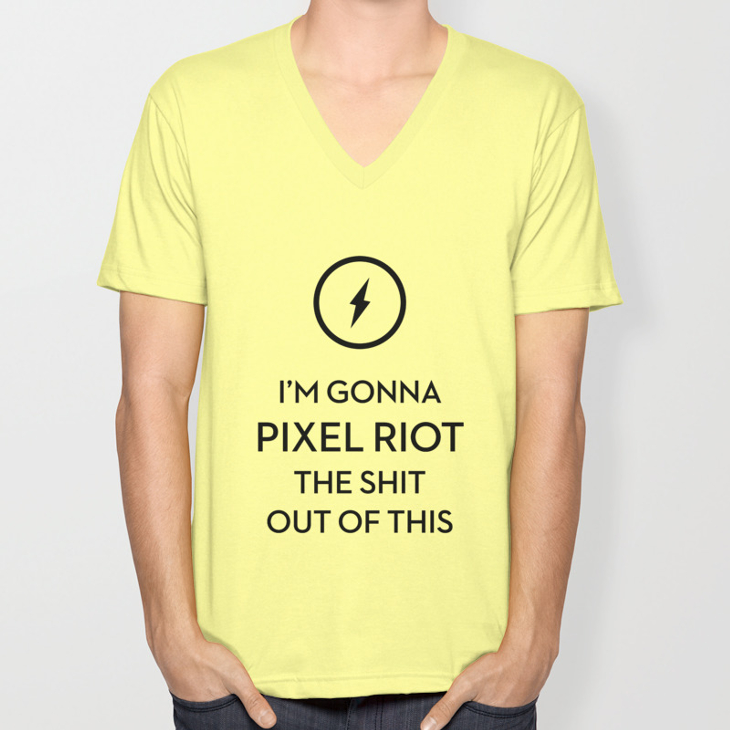 Pixel Riot The Shh Out Of This Unisex V-Neck by pixelriot