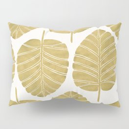 Elephant Ear Alocasia – Gold Palette Pillow Sham