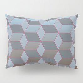 Abstract gradient background with geometric lines Pillow Sham