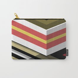 Abstract Lined Carry-All Pouch