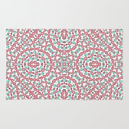 Multicolor Graphic Pattern Rug