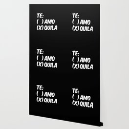 Tequila or Love - Te Amo or Quila (Black & White) Wallpaper