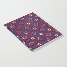 Moroccan Tile 1A - Red Notebook