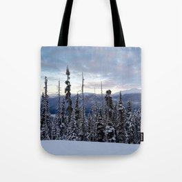Snowy spruces frontier Tote Bag