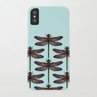dragonfly iPhone & iPod Cases featuring dragonfly by Sharon Turner