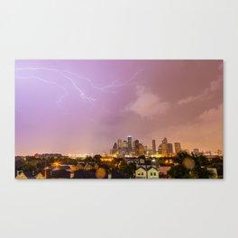 Lightning 1, Houston Skyline Canvas Print
