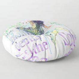 Mermaid : Profound Depths Floor Pillow