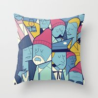 zissou Throw Pillows featuring The Life Acquatic with Steve Zissou by Ale Giorgini