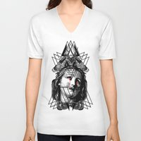 pain V-neck T-shirts featuring PAIN by DIVIDUS