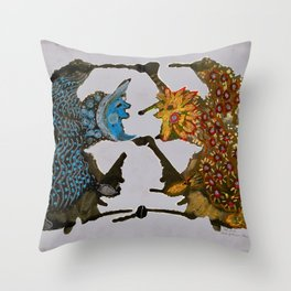 Dance of the sun and moon Throw Pillow