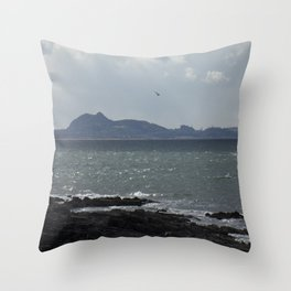 Arthur's Seat in the Distance Throw Pillow