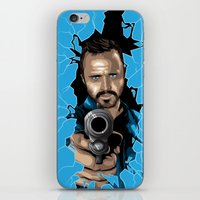 jesse pinkman iPhone & iPod Skins featuring Jesse Pinkman -Blue by Denis O'Sullivan