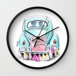 Wedding day Wall Clock