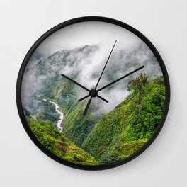 Rainforest clouds Wall Clock