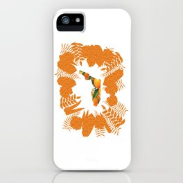 Florida Orange Blossom Wreath iPhone Case