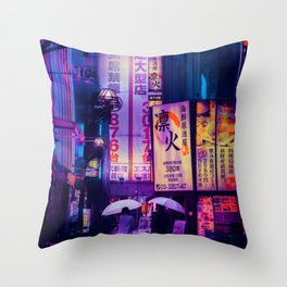 Tokyo Nights / Valentines Day / Liam Wong Throw Pillow