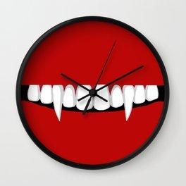 Voracious Vampire Wall Clock