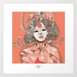geisha bots Art Print