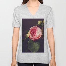 Japanese Camellia flower - Nature Photography Unisex V-Neck