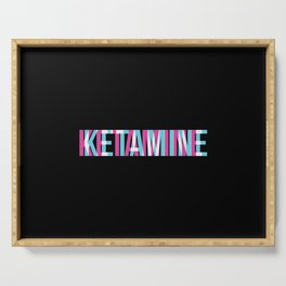 Ketamine | Psychedelic Drug K-Hole Gifts Serving Tray