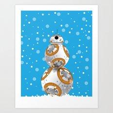 Droid Snowman Art Print