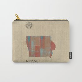 Iowa state map Carry-All Pouch