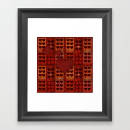 """San Valentín Vintage textile patches"" Framed Art Print"
