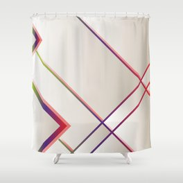 Rainbow Grids Shower Curtain