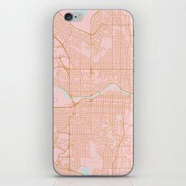 Calgary map, Canada iPhone Skin